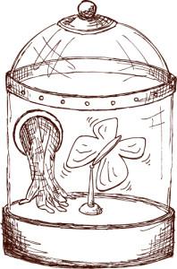 Balancing Butterfly Bell Jar